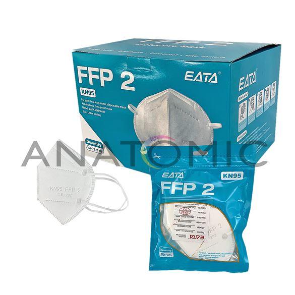 Máscara de Proteção KN95 PFF2 (Kit com 5 unidades)