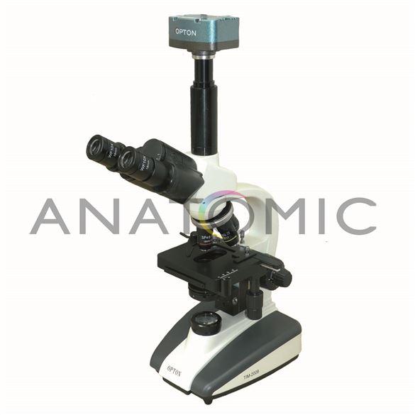 Microscópio Biológico Trinocular Digital com Aumento de 1600X