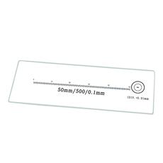 Lâmina Padrão com Escalas de 50mm/500 Div. e 1mm/100 Div. - TA-0182-A