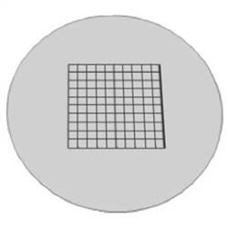 Retículo Quadriculado 10mm/100 divisões - TA-0262