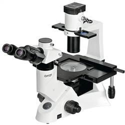 Microscópio Biológico Trinocular Invertido com Aumento de 40x até 400x ou 40x até 600x (opcional), Objetiva Planacromática Infinita, Iluminação 30W Halogênio e Contraste de Fase. - TNB-51T-PL