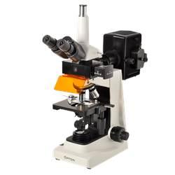 Microscópio Trinocular com Fluorescência Aumento de 40x até 1600x Objetiva Planacromática e Iluminação Epscópica 100W HBO/Diascópica 20W Halogênio - TNI-06T-PL