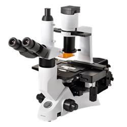 Microscópio Trinocular Invertido. Aumento 40x até 400x ou 40x até 600x (opcional), Obj. Plana Infinita, Iluminação 30W Halogênio, Contraste de Fase e Fluorescência 100W. - TNI-51-IMU