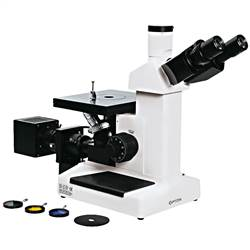 Microscópio Metalográfico Invertido Trinocular com Aumento de 100x Até 1000x, Objetivas Planacromática e Iluminação 20W Halogênio - TNM-07T-PL